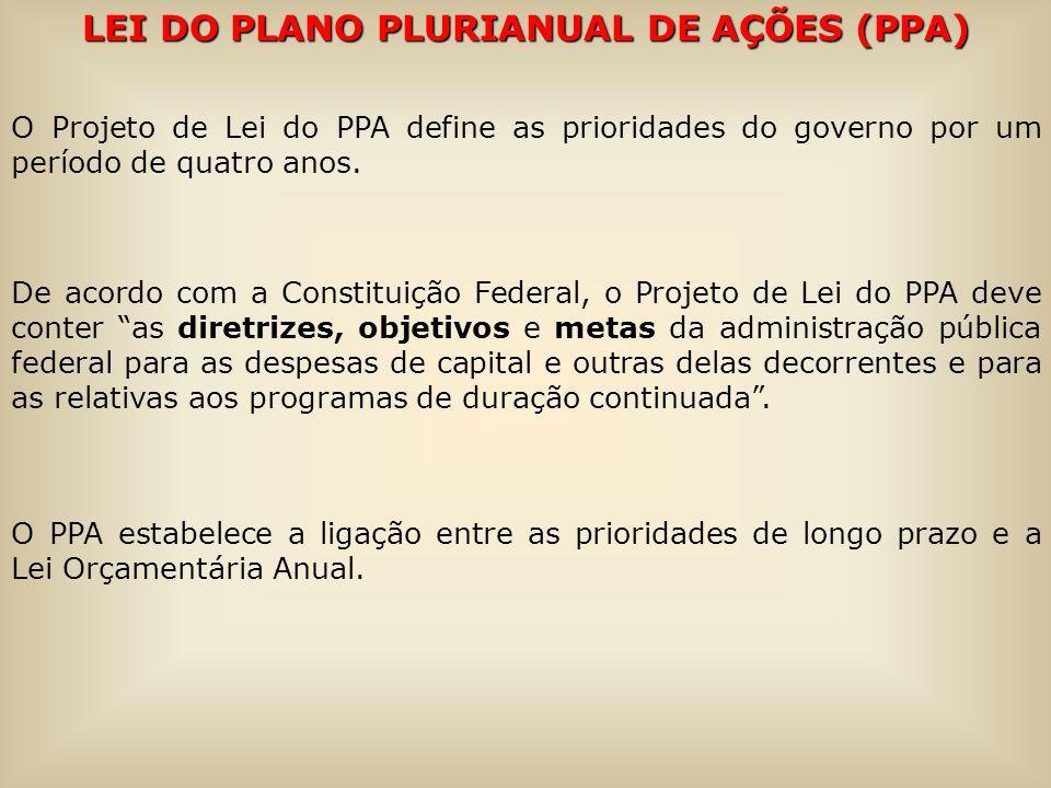 LEI DO PLANO PLURIANUAL DE AÇÕES (PPA)