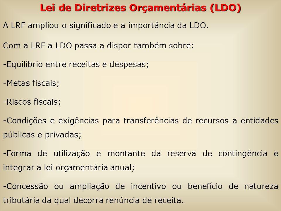 Lei de Diretrizes Orçamentárias (LDO)