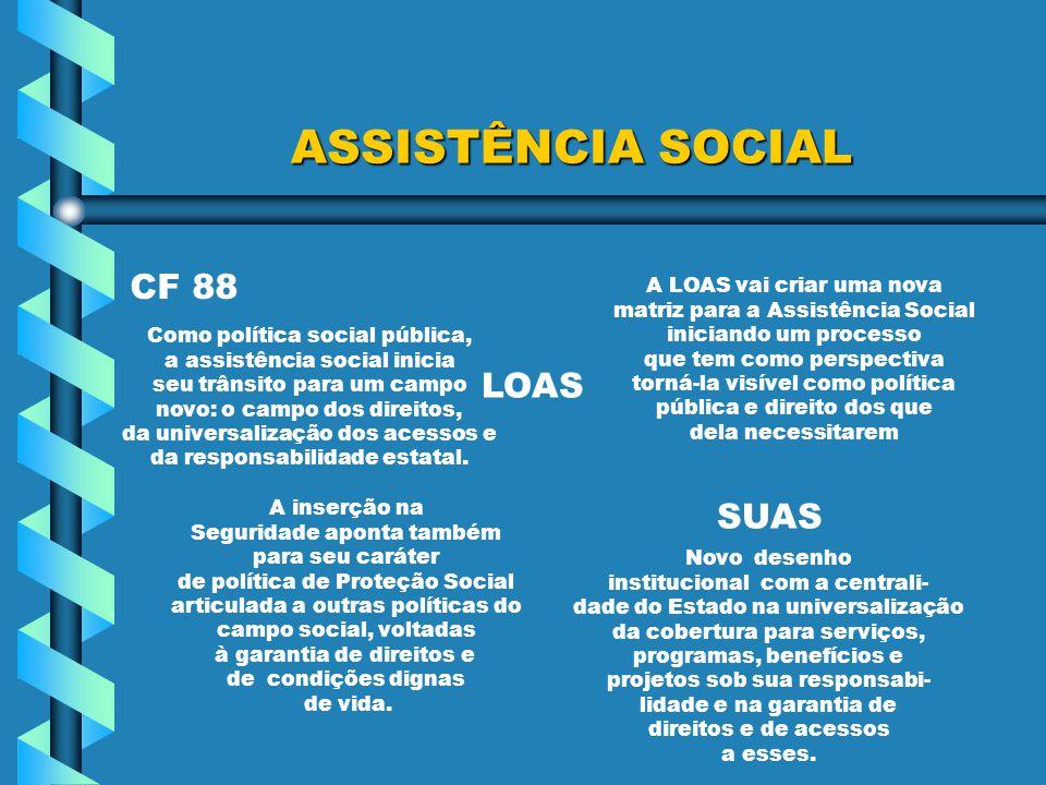 ASSISTÊNCIA SOCIAL CF 88 LOAS SUAS