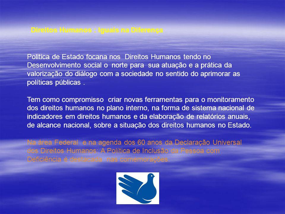 Direitos Humanos : Iguais na Diferença