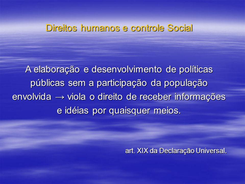 Direitos humanos e controle Social