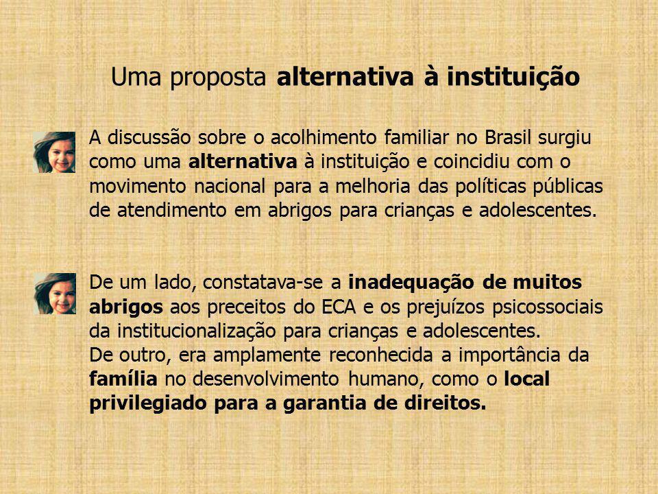 Uma proposta alternativa à instituição