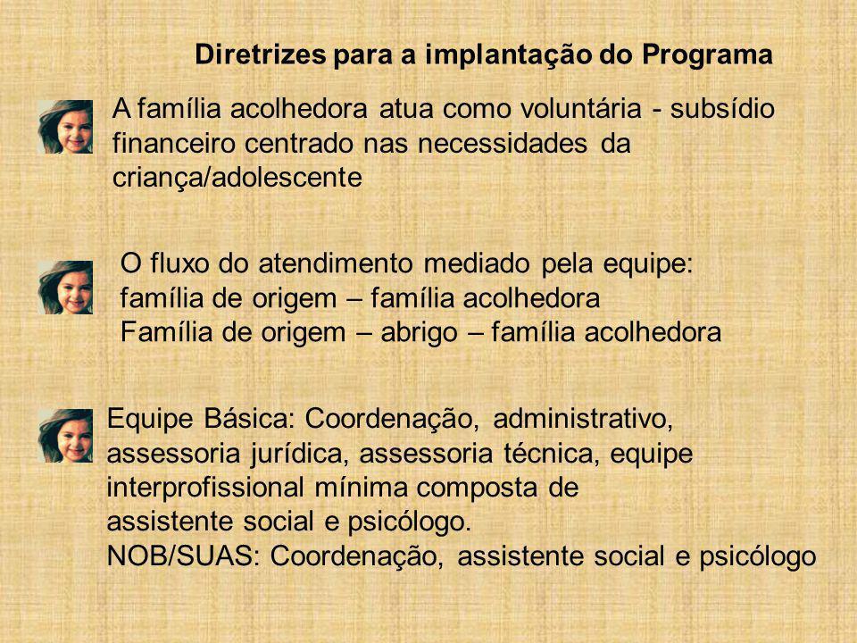 Diretrizes para a implantação do Programa