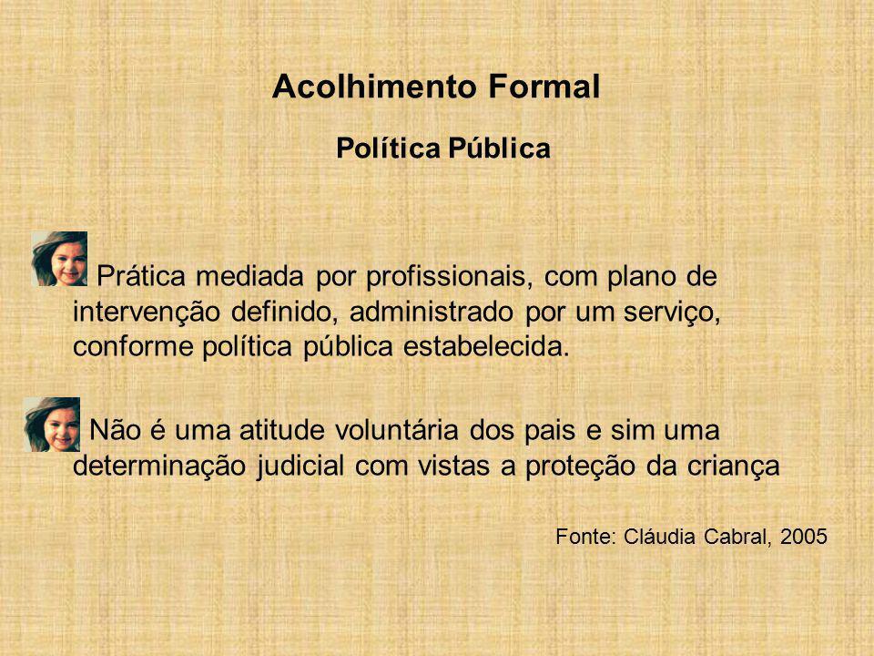 Acolhimento Formal Política Pública