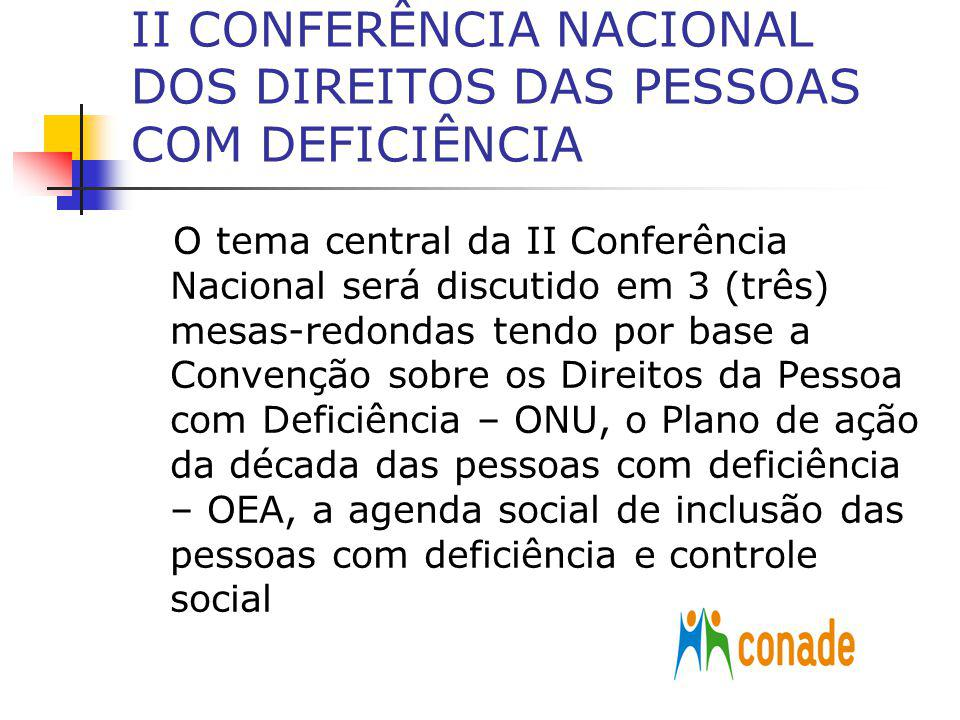 II CONFERÊNCIA NACIONAL DOS DIREITOS DAS PESSOAS COM DEFICIÊNCIA