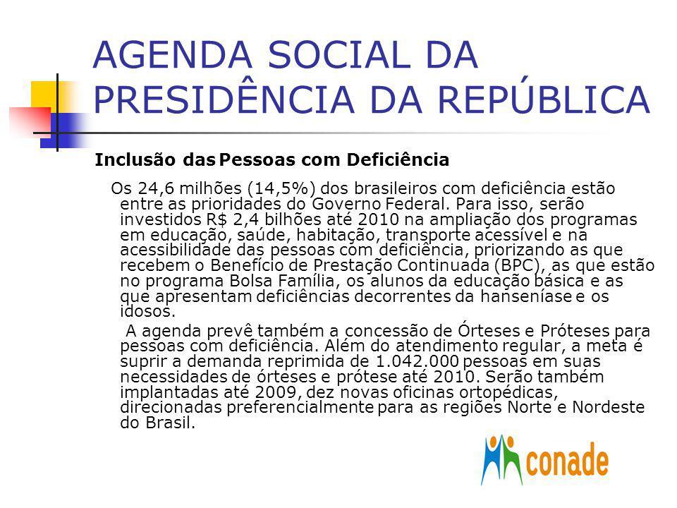 AGENDA SOCIAL DA PRESIDÊNCIA DA REPÚBLICA