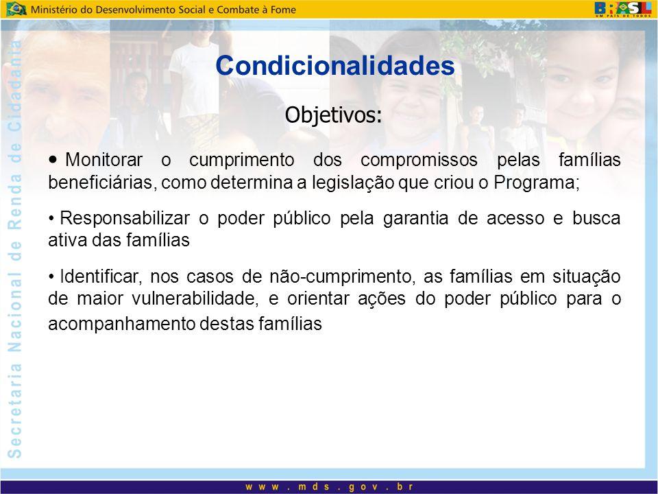 Condicionalidades Objetivos: