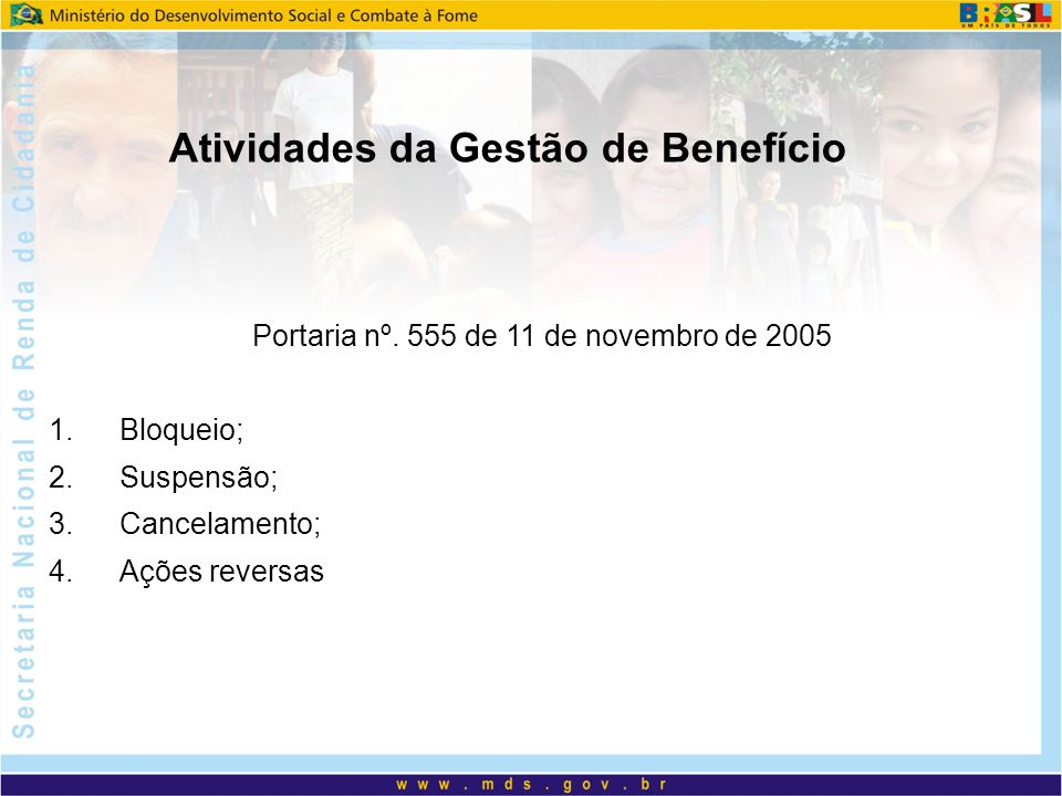 Portaria nº. 555 de 11 de novembro de 2005