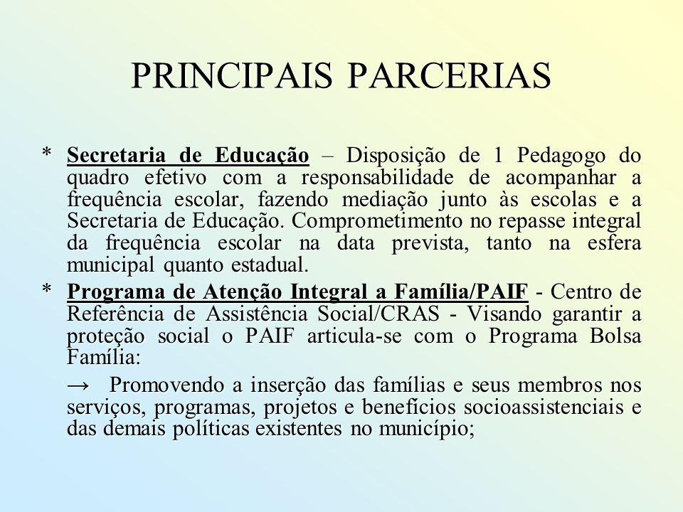 PRINCIPAIS PARCERIAS