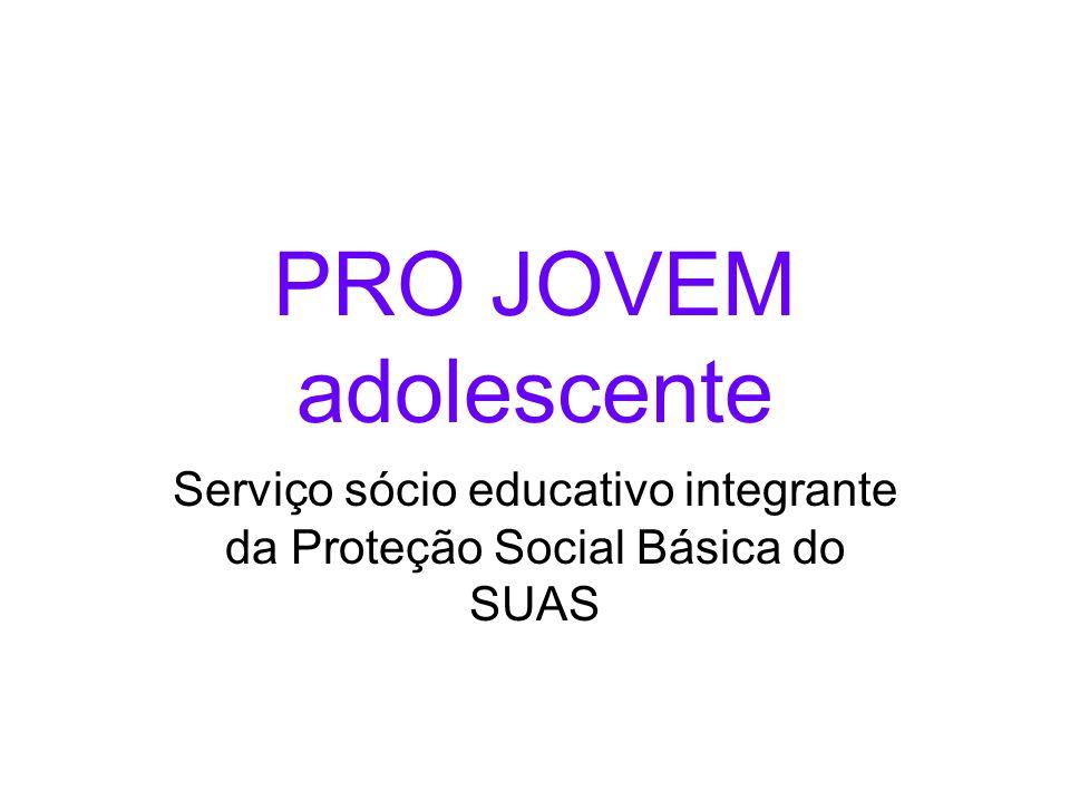 Serviço sócio educativo integrante da Proteção Social Básica do SUAS