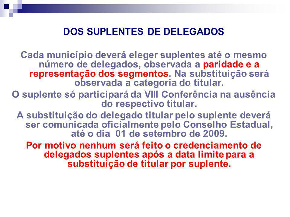 DOS SUPLENTES DE DELEGADOS
