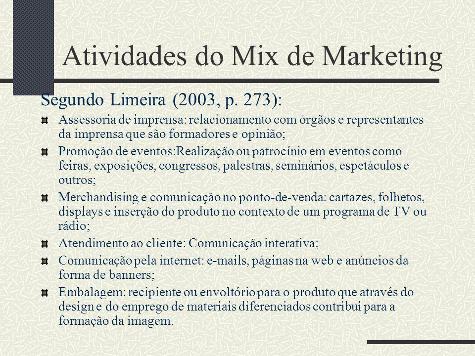 Atividades do Mix de Marketing