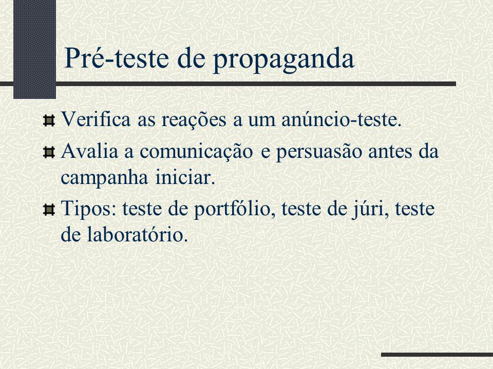 Pré-teste de propaganda
