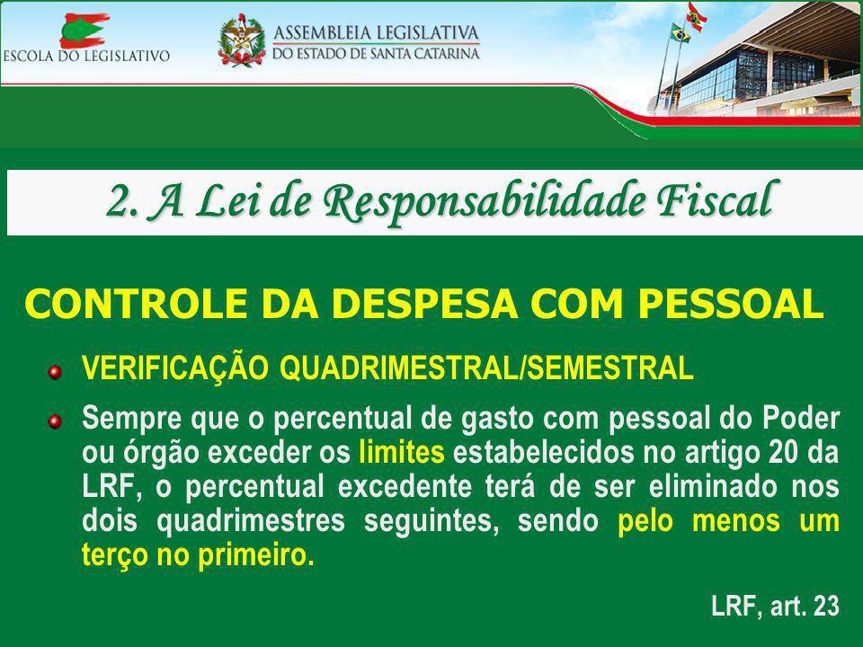 2. A Lei de Responsabilidade Fiscal CONTROLE DA DESPESA COM PESSOAL