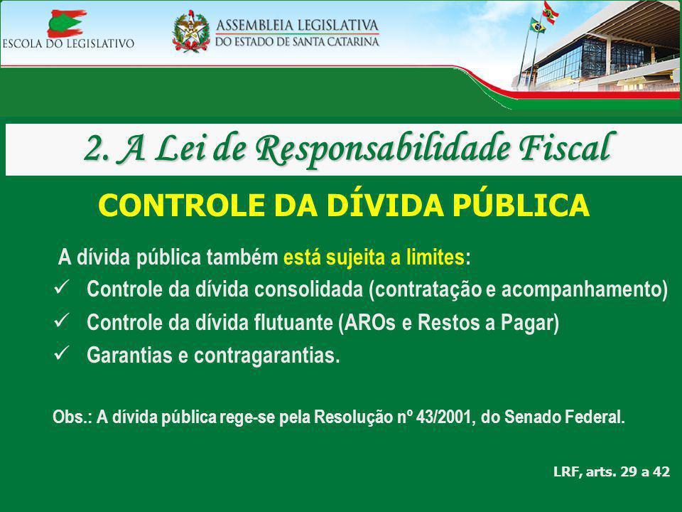 2. A Lei de Responsabilidade Fiscal CONTROLE DA DÍVIDA PÚBLICA