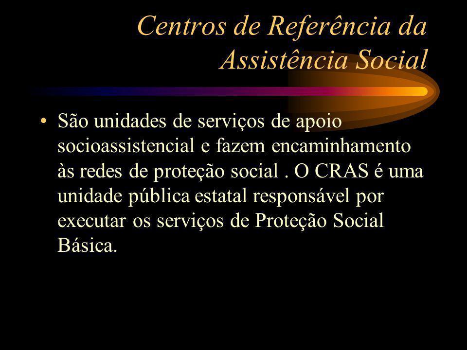 Centros de Referência da Assistência Social
