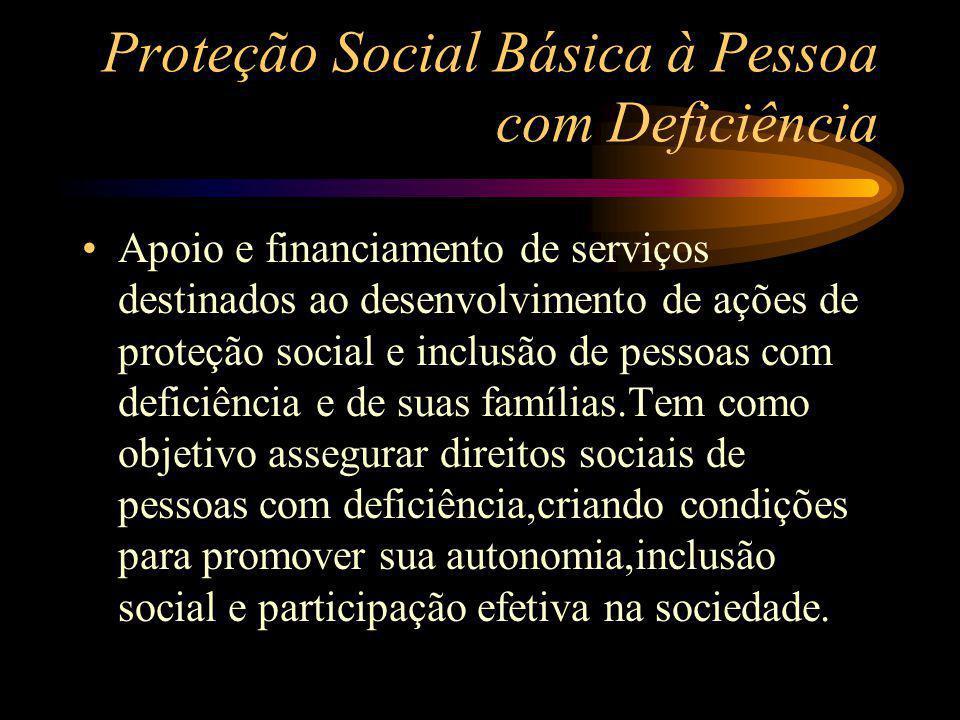 Proteção Social Básica à Pessoa com Deficiência