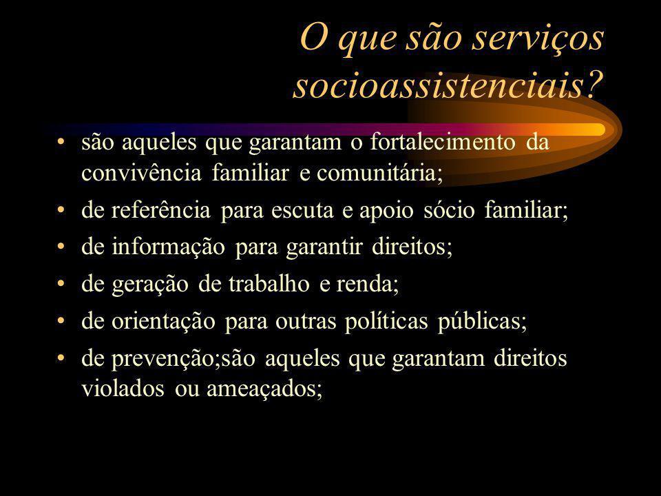 O que são serviços socioassistenciais