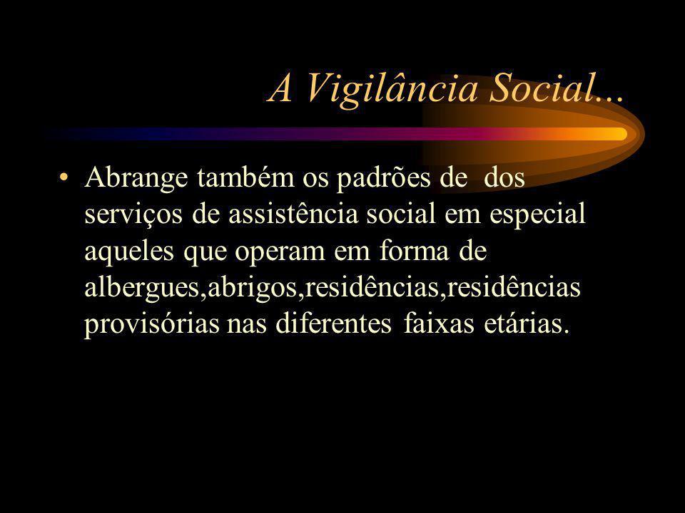 A Vigilância Social...