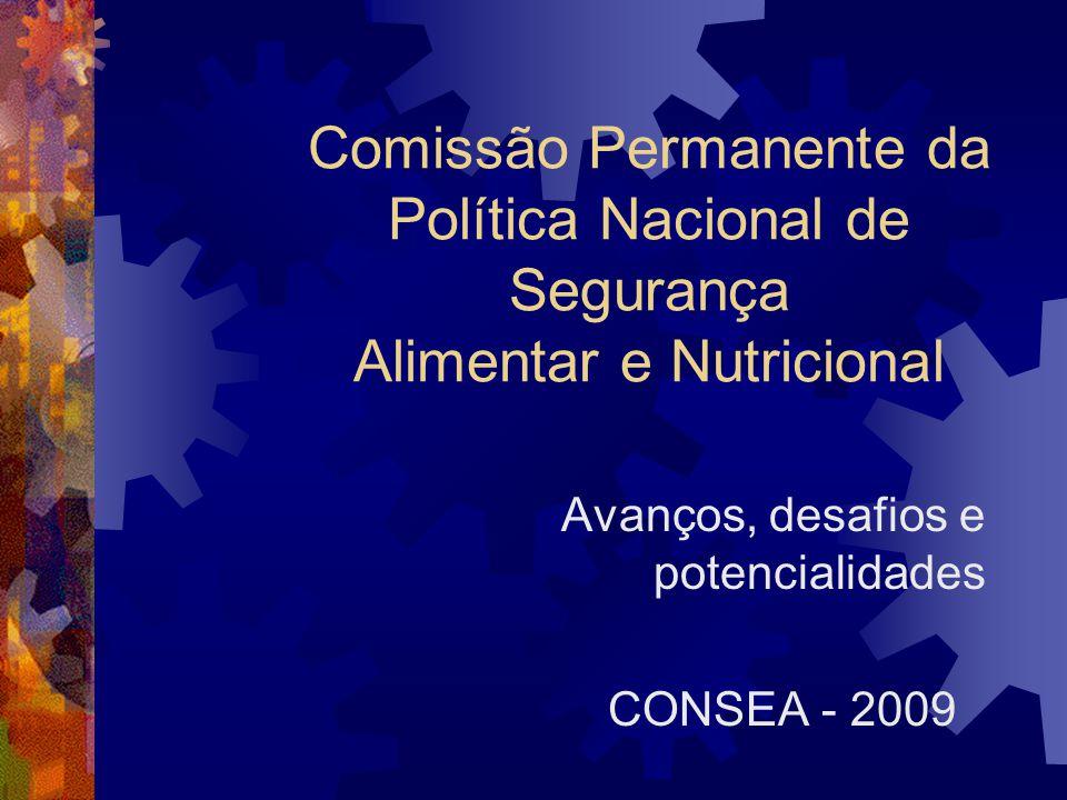 Avanços, desafios e potencialidades CONSEA - 2009