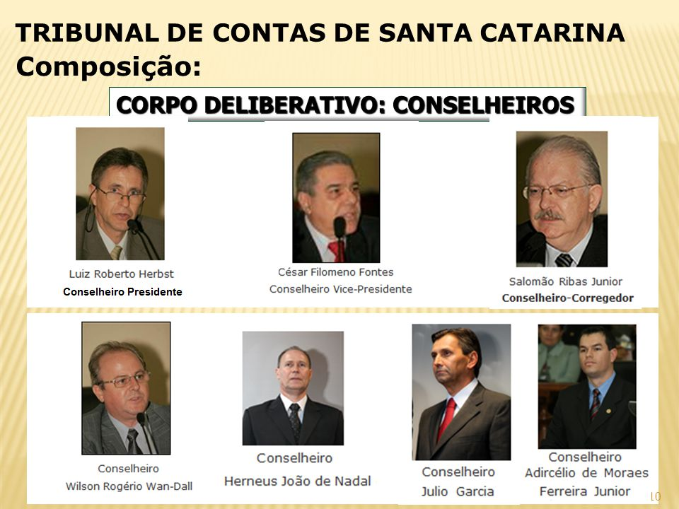 Composição: TRIBUNAL DE CONTAS DE SANTA CATARINA