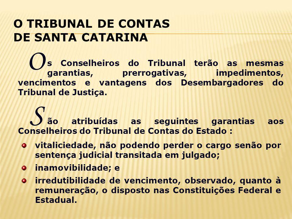 O S O TRIBUNAL DE CONTAS DE SANTA CATARINA