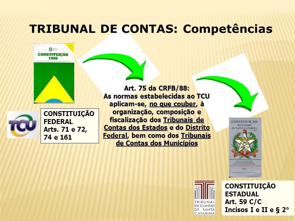 TRIBUNAL DE CONTAS: Competências