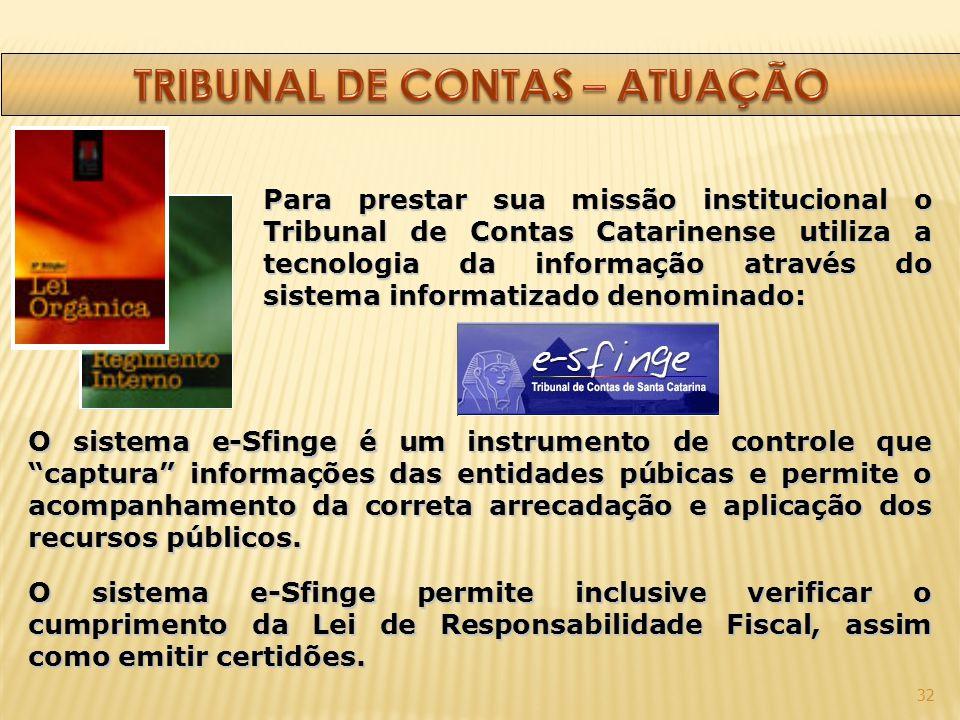 TRIBUNAL DE CONTAS – ATUAÇÃO