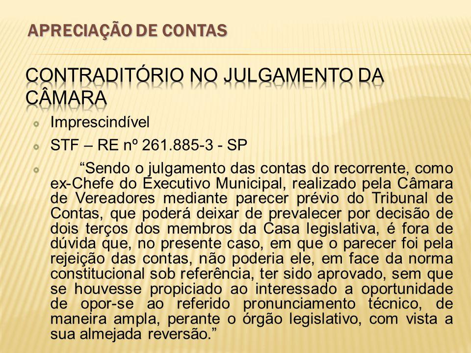 Contraditório no Julgamento da Câmara