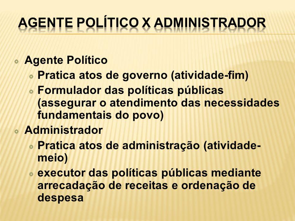 Agente Político x Administrador