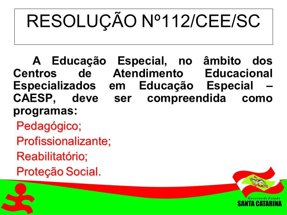 RESOLUÇÃO Nº112/CEE/SC