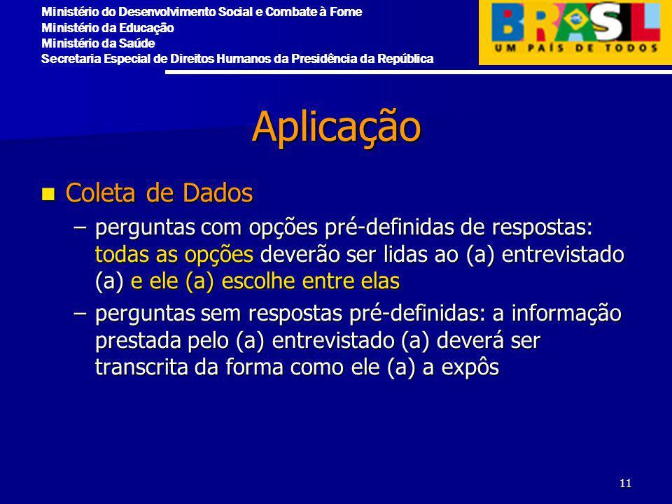 Aplicação Coleta de Dados