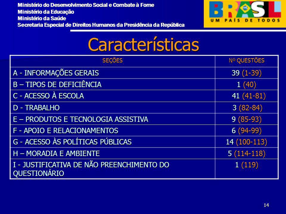 Características A - INFORMAÇÕES GERAIS 39 (1-39)
