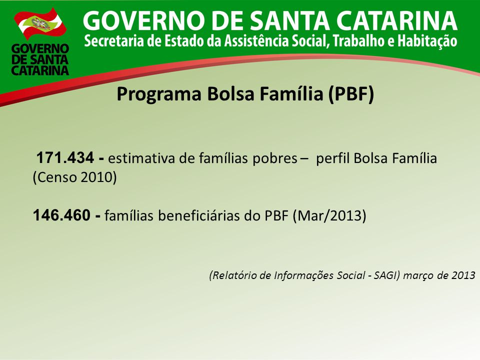 Programa Bolsa Família (PBF)