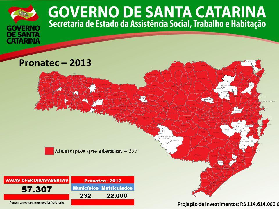 VAGAS OFERTADAS/ABERTAS Fonte: www.spp.mec.gov.br/relatorio