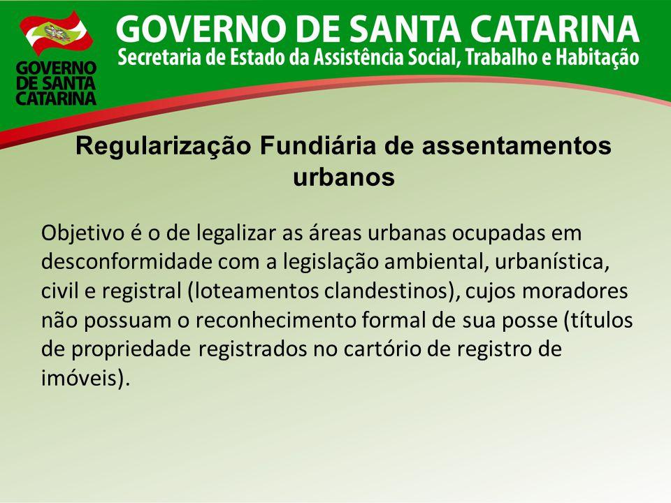 Regularização Fundiária de assentamentos urbanos