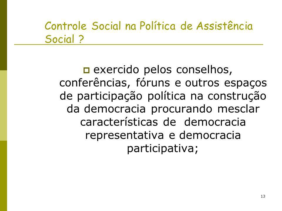 Controle Social na Política de Assistência Social
