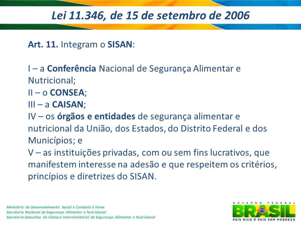 Lei 11.346, de 15 de setembro de 2006
