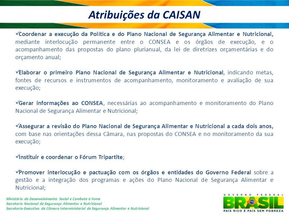Atribuições da CAISAN
