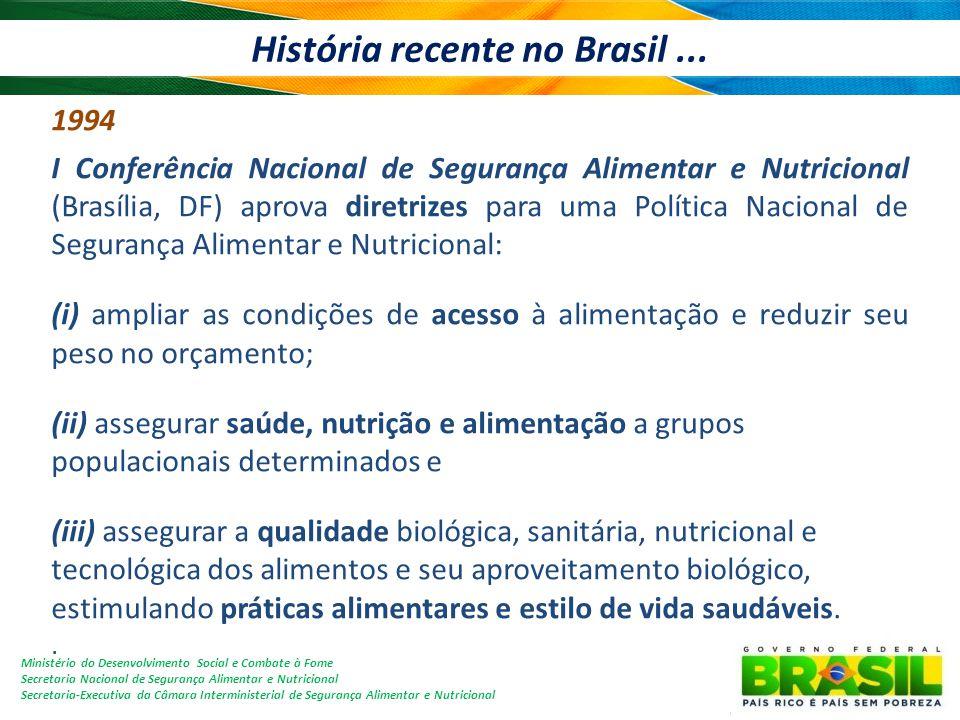 História recente no Brasil ...