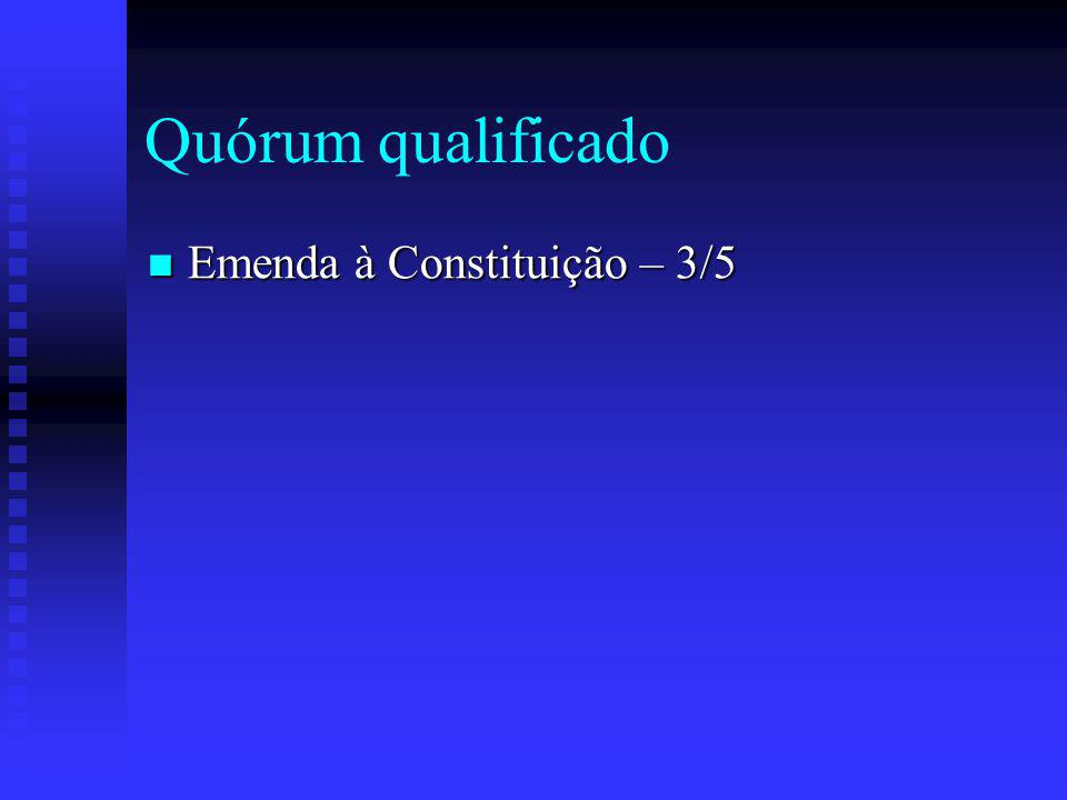 Quórum qualificado Emenda à Constituição – 3/5