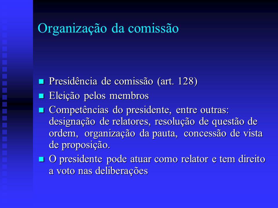 Organização da comissão