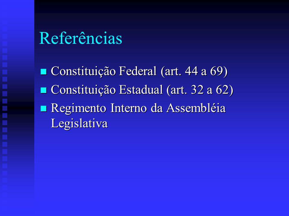 Referências Constituição Federal (art. 44 a 69)