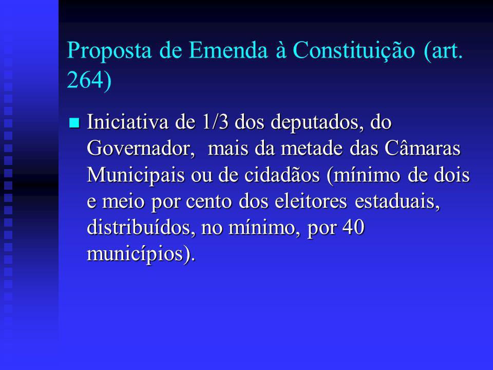 Proposta de Emenda à Constituição (art. 264)