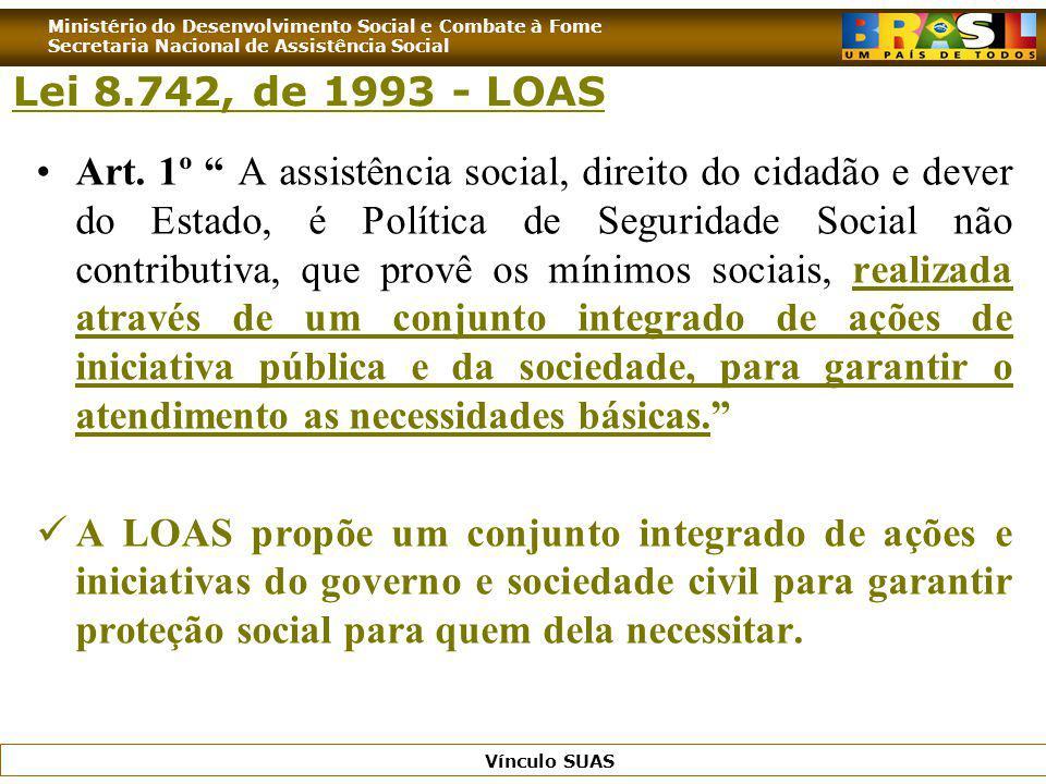 Lei 8.742, de 1993 - LOAS