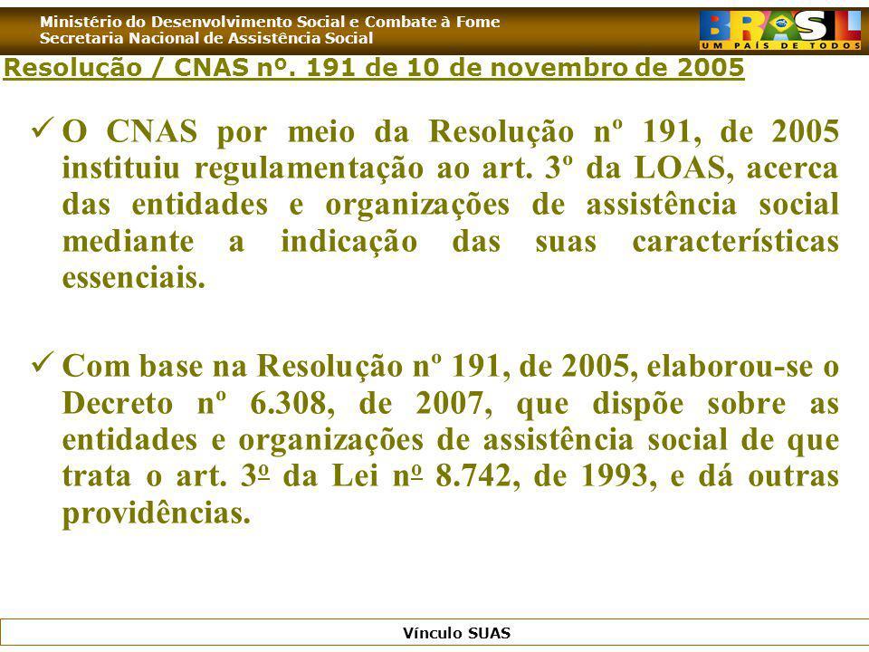 Resolução / CNAS nº. 191 de 10 de novembro de 2005