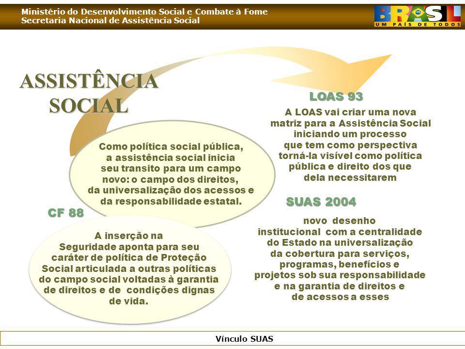 ASSISTÊNCIA SOCIAL LOAS 93 SUAS 2004 CF 88