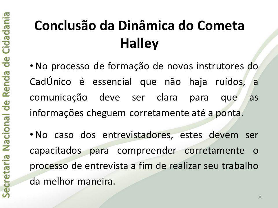 Conclusão da Dinâmica do Cometa Halley