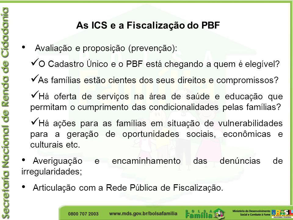 As ICS e a Fiscalização do PBF