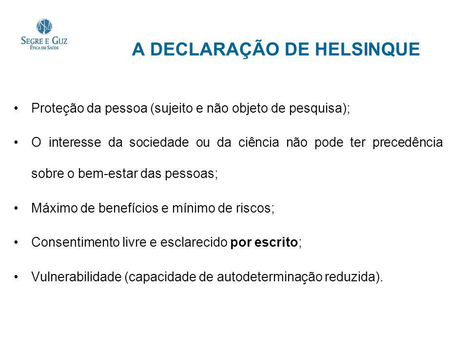 A DECLARAÇÃO DE HELSINQUE
